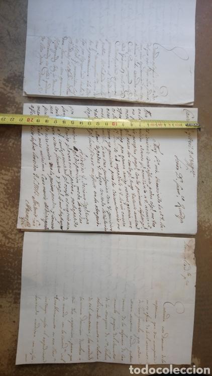 LOTE DE TRES CARTAS MANUSCRITO DE 1816 (MADRID. SALAMANCA. CANTALAPIEDRA) (Coleccionismo - Documentos - Manuscritos)