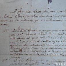 Manuscritos antiguos: RARÍSIMO MANUSCRITO AÑO 1868 BARCELONA VENTA DEL SECRETO DEL CAFÉ ARTIFICIAL. Lote 165007438