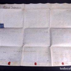 Manuscritos antiguos: MANUSCRITO EN INGLÉS SOBRE PERGAMINO 1794. Lote 165044322