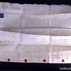 Manuscritos antiguos: MANUSCRITO EN INGLÉS SOBRE PERGAMINO 1813. Lote 165045246