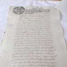 Manuscritos antiguos: CARLOS II 1666. MANUSCRITO. PAPEL SELLADO O TIMBRADO, SELLO SEGUNDO 2º SESENTA Y OCHO MARAVEDIS. Lote 165165554