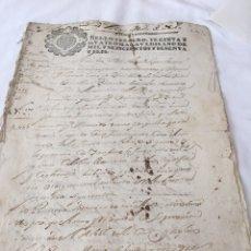 Manuscritos antiguos: CARLOS II 1666. MANUSCRITO. PAPEL SELLADO O TIMBRADO, SELLO TERCERO 3º TREINTA Y CUATRO MARAVEDIS. Lote 165166085