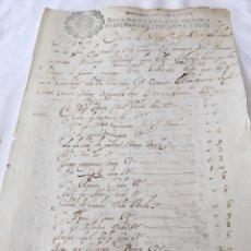 Manuscritos antiguos: CARLOS II 1666. MANUSCRITO. PAPEL SELLADO O TIMBRADO, SELLO DESPACHOS DE OFICIO DOS MARAVEDIS. Lote 165167317
