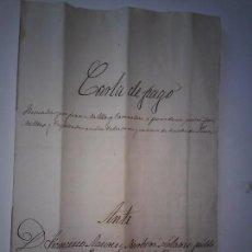 Manuscritos antiguos: CARTA DE PAGO ANTE NOTARIO 1871. Lote 165192682