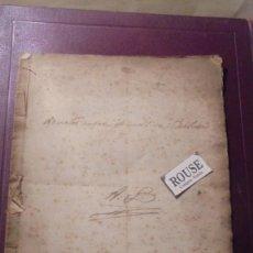 Manuscritos antiguos - LIBRETA MANUSCRITA A TINTA - APUNTES SOBRE EL APELLIDO ''BARBOSA'' - S. XVIII-XIX - 18 PAG. 24X17,5 - 165320010