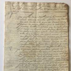 Manuscritos antiguos: INQUISICION. CAPITULOS...POR LOS TRES BRAZOS ECLESIASTICO MILITAR Y R[EA]L ... CORTES DEL AÑO 1626. Lote 123267626