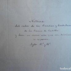 Manuscritos antiguos: REAL ARCHIVO SIMANCAS MANUSCRITO 1429-1506 VALOR RENTAS SIGLOS XV - XVI INTERESANTE INVESTIGACIÓN. Lote 165488578