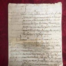 Manuscritos antiguos: MANUSCRITO DE LA GUERRA DE LA INDEPENDENCIA - 1810. Lote 165546992
