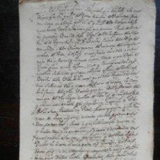 Manuscritos antiguos: MANUSCRITO AÑO 1584 COPIA ESCRITURA EN 1707 VILLAFRANCA CARCASTILLO VENTA 11 PÁGINAS. Lote 165584038