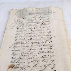 Manuscritos antiguos: CARLOS II 1700. MANUSCRITO. PAPEL SELLADO O TIMBRADO, SELLO SEGUNDO 2º SESENTA Y OCHO MARAVEDIS. Lote 165653866