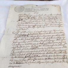 Manuscritos antiguos: CARLOS II 1700. MANUSCRITO. PAPEL SELLADO O TIMBRADO, SELLO CUARTO 4º DIEZ MARAVEDIS. Lote 165654609
