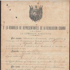 Manuscritos antiguos: BE711 CUBA 1899 INDEPENDENCE WAR. NOMBRAMIENTO. SIGNED GEN. RAFAEL PORTUONDO.. Lote 165920118