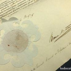 Manuscritos antiguos: 1845 NOMBRAMIENTO.. FIRMAS ISABEL II, MANUEL DE MAZARREDO Y RAMÓN MARÍA NARVÁEZ. SELLO ILUSTRES 1845. Lote 166173326