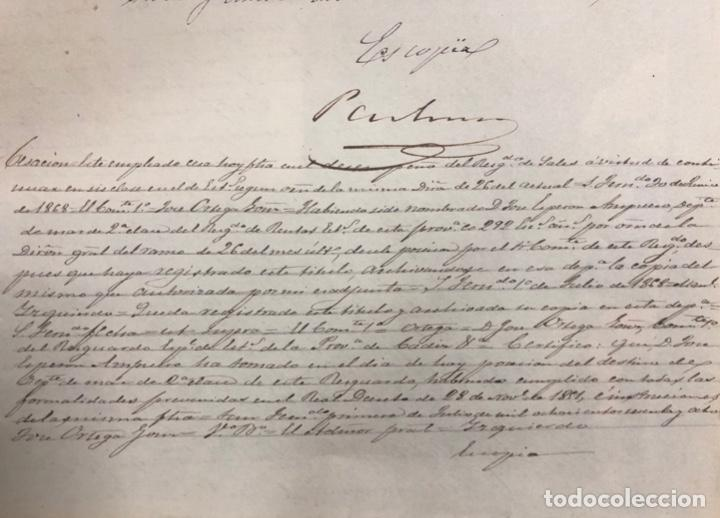 Manuscritos antiguos: SAN FERNANDO, 1865. NOMBRAMIENTO DE MARINO ESPECIAL DE SALES. - Foto 4 - 166381186