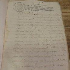 Manuscritos antiguos: 1818, MANUSCRITO CON SELLO DE PLACA DE FERNANDO VII, MAGNIFICO,12 PAGINAS. Lote 166383842
