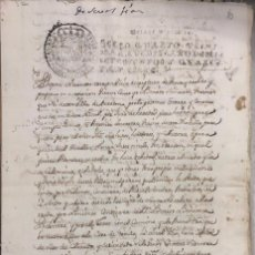 Manuscritos antiguos: TARAZONA, 1747. TESTAMENTO.. Lote 176440350
