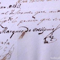 Manuscritos antiguos: MARQUES DE BELLPUIG. PALMA DE MALLORCA 1811. Lote 166815298