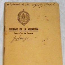 Manuscritos antiguos: ANTIGUA Y PEQUEÑA LIBRETA MANUSCRITA CON TEXTOS SOBRE FALANGE - COLEGIO DE LA ASUNCIÓN. Lote 167543084