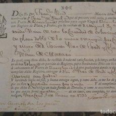 Manuscritos antiguos: DOCUMENTO DE CONSIGNA DE MERCANCÍAS AL CAPITÁN - VERACRUZ, AÑO 1795. Lote 167633992