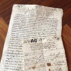 Manuscritos antiguos: 1545. ESCRITURA DE VENTA DE UNA VIÑA TARAZONA. FIRMA NOTARIAL PEDRO DE SILOS.. Lote 167675784