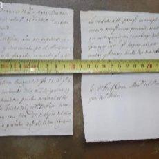 Manuscritos antiguos: LOTE DE DOS MANUSCRITOS, SIN FECHAR.. Lote 167611358