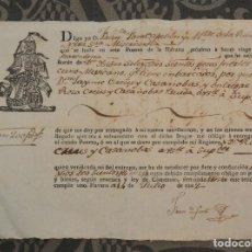 Manuscritos antiguos: DOCUMENTO DE CONSIGNA DE MERCANCÍAS AL CAPITÁN - LA HABANA 1802. Lote 168133492