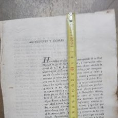 Manuscritos antiguos: COMUNICADO DEL INTENDENTE SOBRE LEGISLACIÓN DE AGUARDIENTES Y LICORES-SALAMANCA-ORIG. DICIEMBRE 1817. Lote 168365574