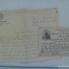 Manuscritos antiguos: CLERIGOS E INSTITUTO DE SAN VIATOR , ESCORIAZA ( GUIPUZCOA ) : LOTE DE 2 CARTAS MANUSCRITAS, 1951. Lote 168496620