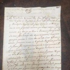 Manuscritos antiguos: CARTA REAL DEL FELIPE V RECLAMANDO DINERO PARA RESCATAR A LOS SOLDADOS CAUTIVOS EN ARGEL - 1716. Lote 168562222
