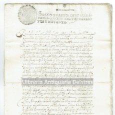 Manuscritos antiguos: [CARTAGENA DE INDIAS – PANAMÁ. 1690] RELACION DE SERVICIOS PRESTADOS POR DON ALONSO DE MERCADO.... Lote 168835580