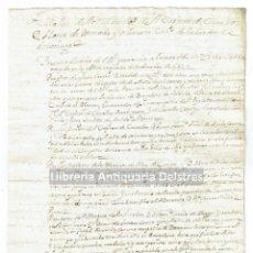 Manuscritos antiguos: [CATALUÑA. 1684. RELACIÓN DE SERVICIOS PRESTADO POR EL CAPITAN DE CABALLOS D. ALONSO DE MERCADO]. Lote 168835988