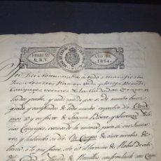 Manuscritos antiguos: ZARAGOZA. 1824. TERMINO DE RABAL, RANILLAS. VENDICIÓN DE UN CAMPO. FIRMA NOTARIO.. Lote 168832592