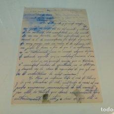 Manuscritos antiguos: CARTA MANUSCRITA ENTRE DOCTORES. D. ELÍAS ARTERO DE ALCANTARILLA Y D. ELISEO ABELLÁN DE MURCIA.. Lote 169234892
