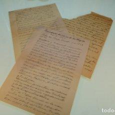 Manuscritos antiguos: DOCUMENTOS MANUSCRITOS DEL DOCTOR D. ELISEO ABELLÁN DE MURCIA. 1929. Lote 169235076