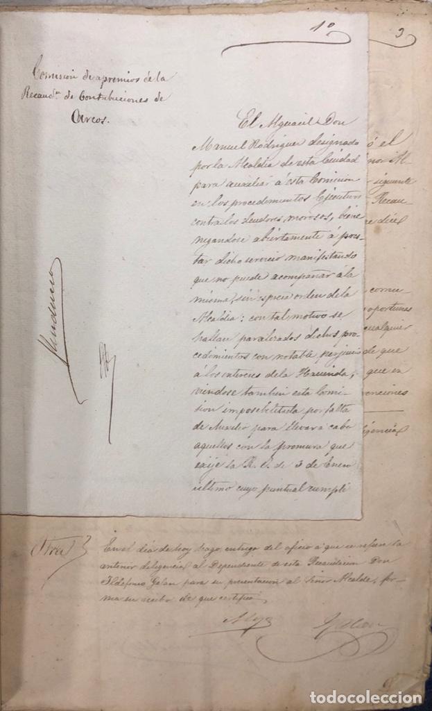 Manuscritos antiguos: ARCOS, 1885. EXPEDIENTE SOBRE LA COMISION DE APREMIOS DE LA RECAUDACION DE CONTRUBUCIONES. LEER - Foto 3 - 169266824