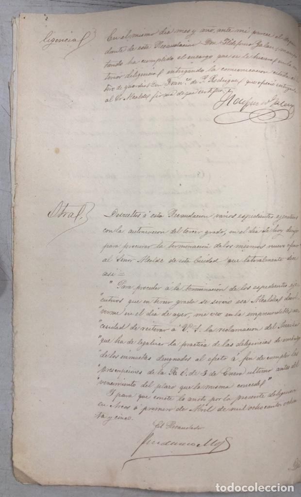 Manuscritos antiguos: ARCOS, 1885. EXPEDIENTE SOBRE LA COMISION DE APREMIOS DE LA RECAUDACION DE CONTRUBUCIONES. LEER - Foto 7 - 169266824