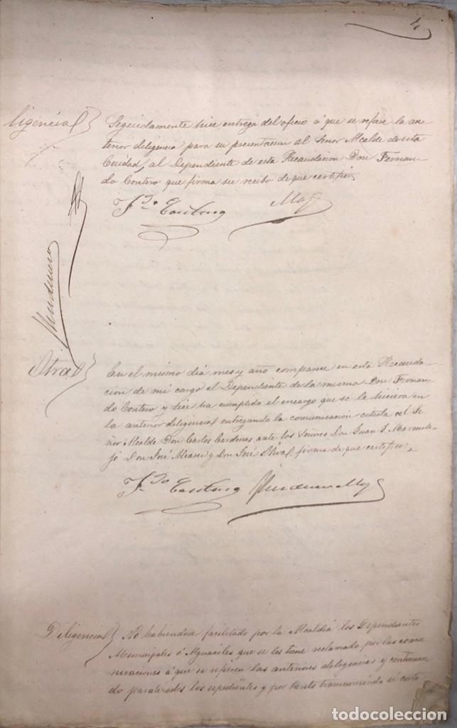 Manuscritos antiguos: ARCOS, 1885. EXPEDIENTE SOBRE LA COMISION DE APREMIOS DE LA RECAUDACION DE CONTRUBUCIONES. LEER - Foto 8 - 169266824
