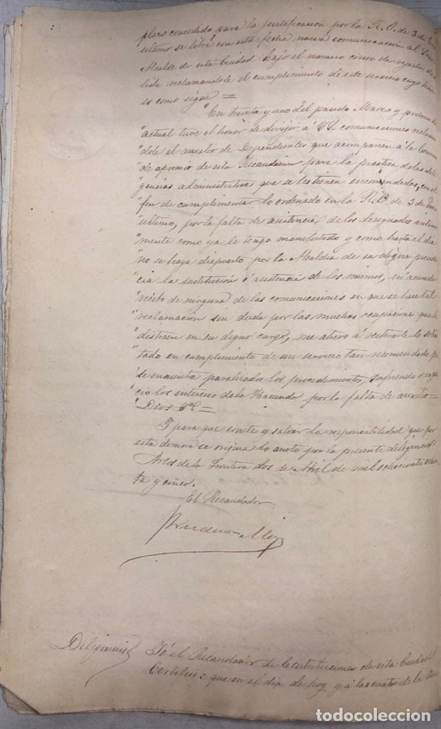 Manuscritos antiguos: ARCOS, 1885. EXPEDIENTE SOBRE LA COMISION DE APREMIOS DE LA RECAUDACION DE CONTRUBUCIONES. LEER - Foto 9 - 169266824