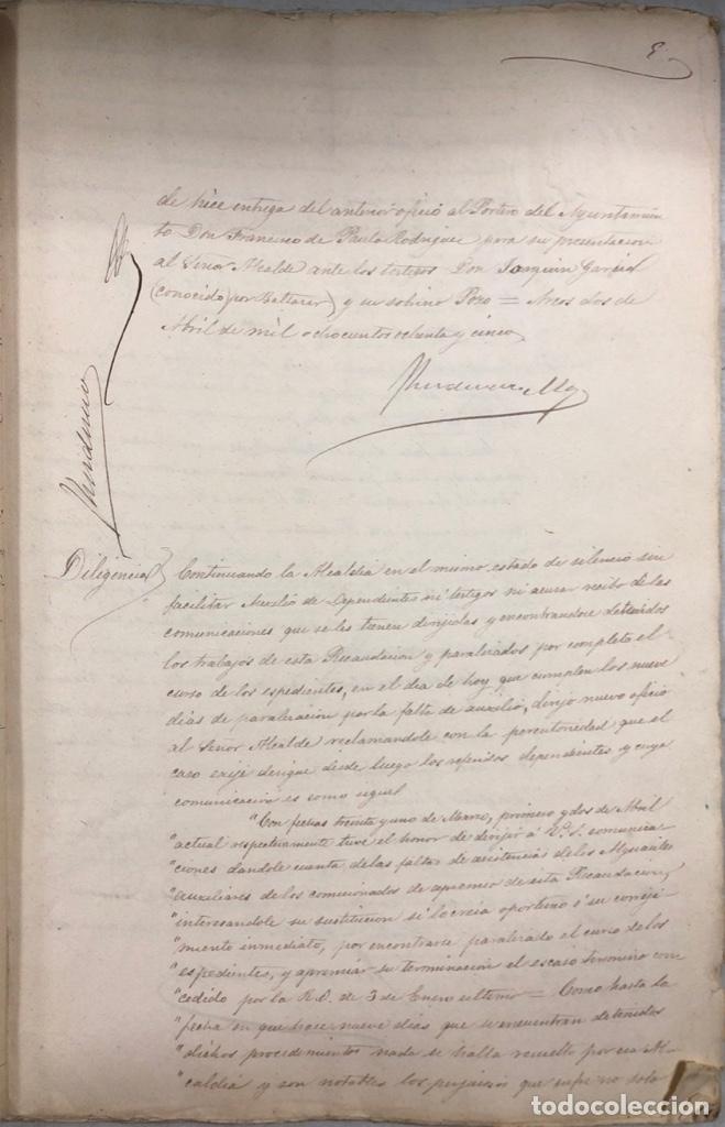 Manuscritos antiguos: ARCOS, 1885. EXPEDIENTE SOBRE LA COMISION DE APREMIOS DE LA RECAUDACION DE CONTRUBUCIONES. LEER - Foto 10 - 169266824