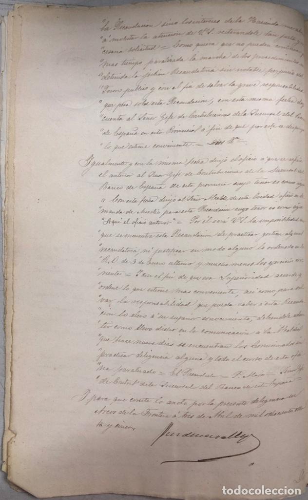 Manuscritos antiguos: ARCOS, 1885. EXPEDIENTE SOBRE LA COMISION DE APREMIOS DE LA RECAUDACION DE CONTRUBUCIONES. LEER - Foto 11 - 169266824