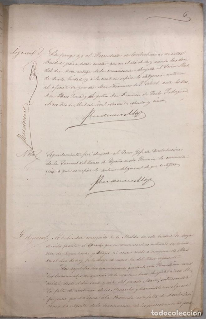 Manuscritos antiguos: ARCOS, 1885. EXPEDIENTE SOBRE LA COMISION DE APREMIOS DE LA RECAUDACION DE CONTRUBUCIONES. LEER - Foto 12 - 169266824
