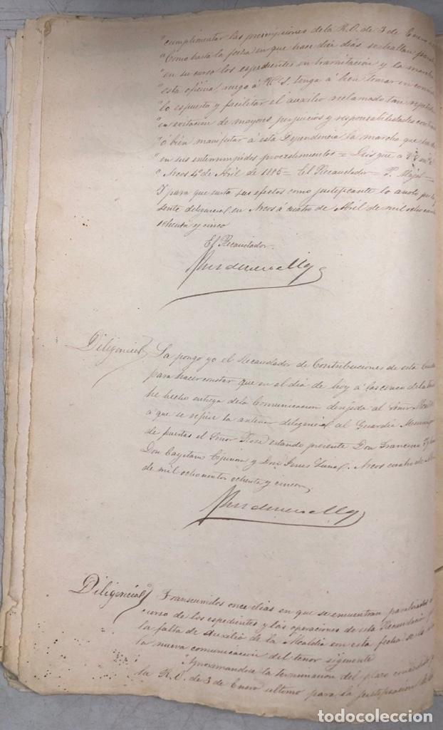 Manuscritos antiguos: ARCOS, 1885. EXPEDIENTE SOBRE LA COMISION DE APREMIOS DE LA RECAUDACION DE CONTRUBUCIONES. LEER - Foto 13 - 169266824