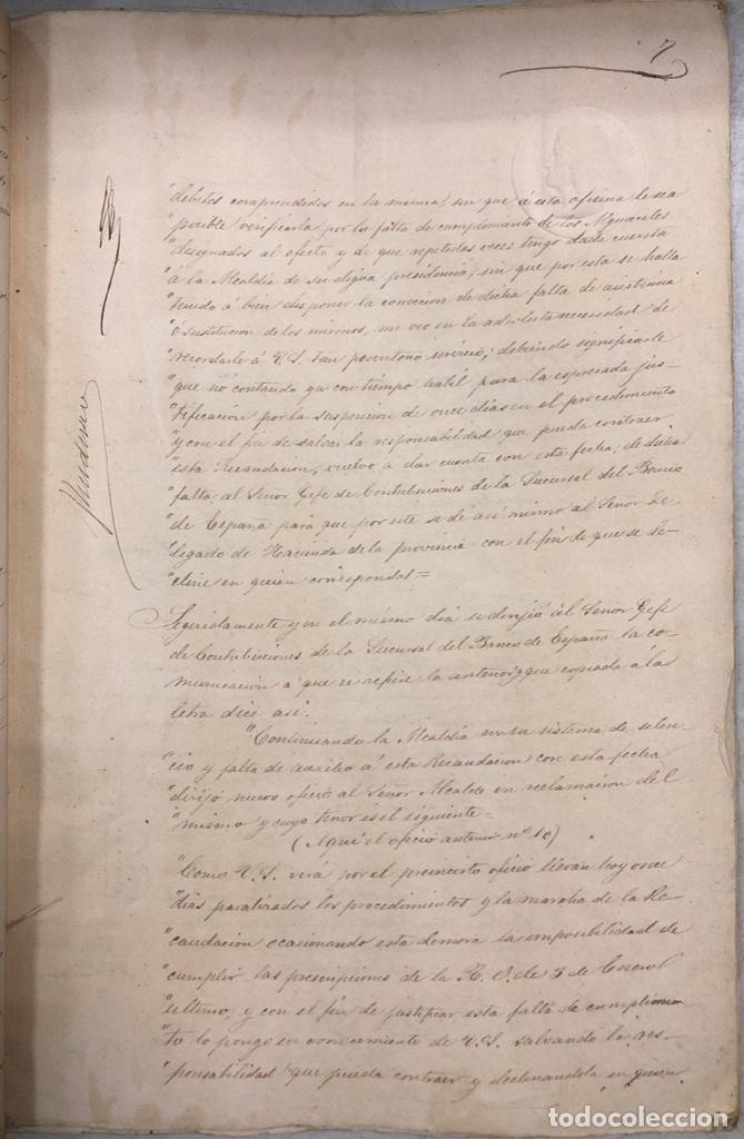 Manuscritos antiguos: ARCOS, 1885. EXPEDIENTE SOBRE LA COMISION DE APREMIOS DE LA RECAUDACION DE CONTRUBUCIONES. LEER - Foto 14 - 169266824