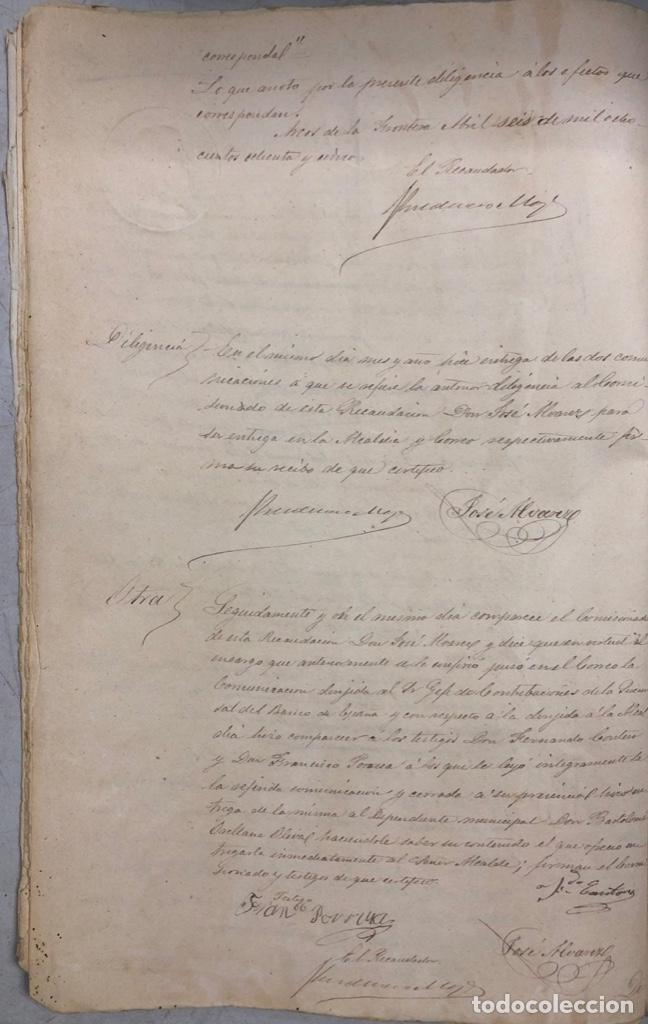 Manuscritos antiguos: ARCOS, 1885. EXPEDIENTE SOBRE LA COMISION DE APREMIOS DE LA RECAUDACION DE CONTRUBUCIONES. LEER - Foto 15 - 169266824