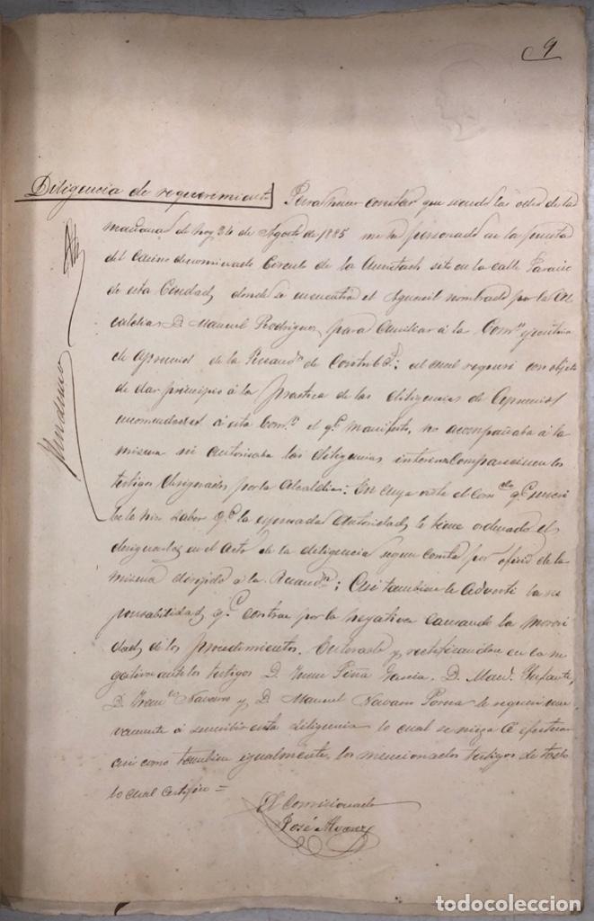 Manuscritos antiguos: ARCOS, 1885. EXPEDIENTE SOBRE LA COMISION DE APREMIOS DE LA RECAUDACION DE CONTRUBUCIONES. LEER - Foto 17 - 169266824