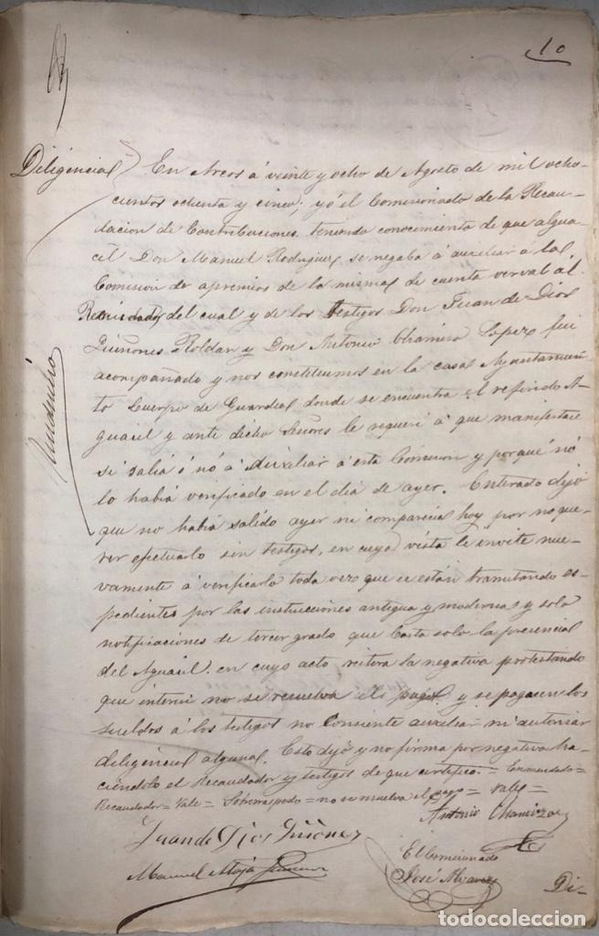 Manuscritos antiguos: ARCOS, 1885. EXPEDIENTE SOBRE LA COMISION DE APREMIOS DE LA RECAUDACION DE CONTRUBUCIONES. LEER - Foto 18 - 169266824