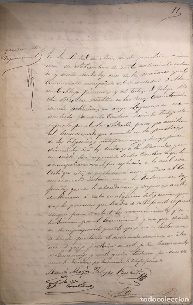 Manuscritos antiguos: ARCOS, 1885. EXPEDIENTE SOBRE LA COMISION DE APREMIOS DE LA RECAUDACION DE CONTRUBUCIONES. LEER - Foto 20 - 169266824