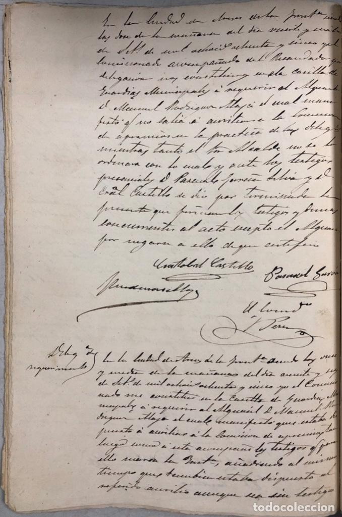 Manuscritos antiguos: ARCOS, 1885. EXPEDIENTE SOBRE LA COMISION DE APREMIOS DE LA RECAUDACION DE CONTRUBUCIONES. LEER - Foto 21 - 169266824