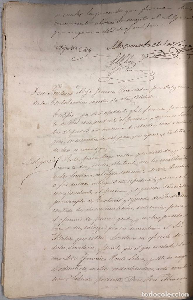 Manuscritos antiguos: ARCOS, 1885. EXPEDIENTE SOBRE LA COMISION DE APREMIOS DE LA RECAUDACION DE CONTRUBUCIONES. LEER - Foto 23 - 169266824