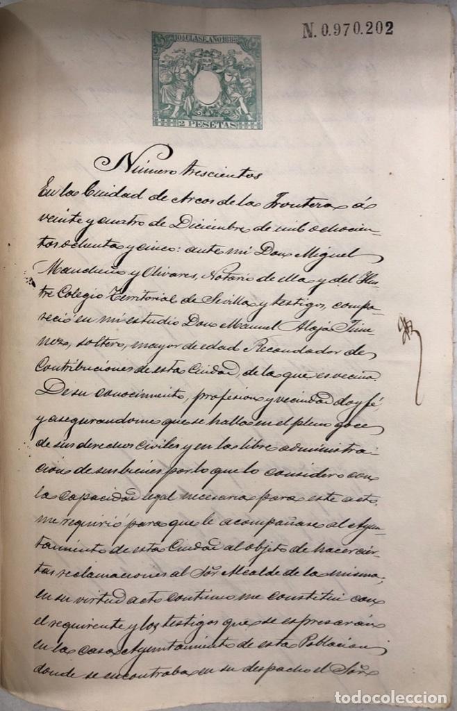 Manuscritos antiguos: ARCOS, 1885. EXPEDIENTE SOBRE LA COMISION DE APREMIOS DE LA RECAUDACION DE CONTRUBUCIONES. LEER - Foto 26 - 169266824